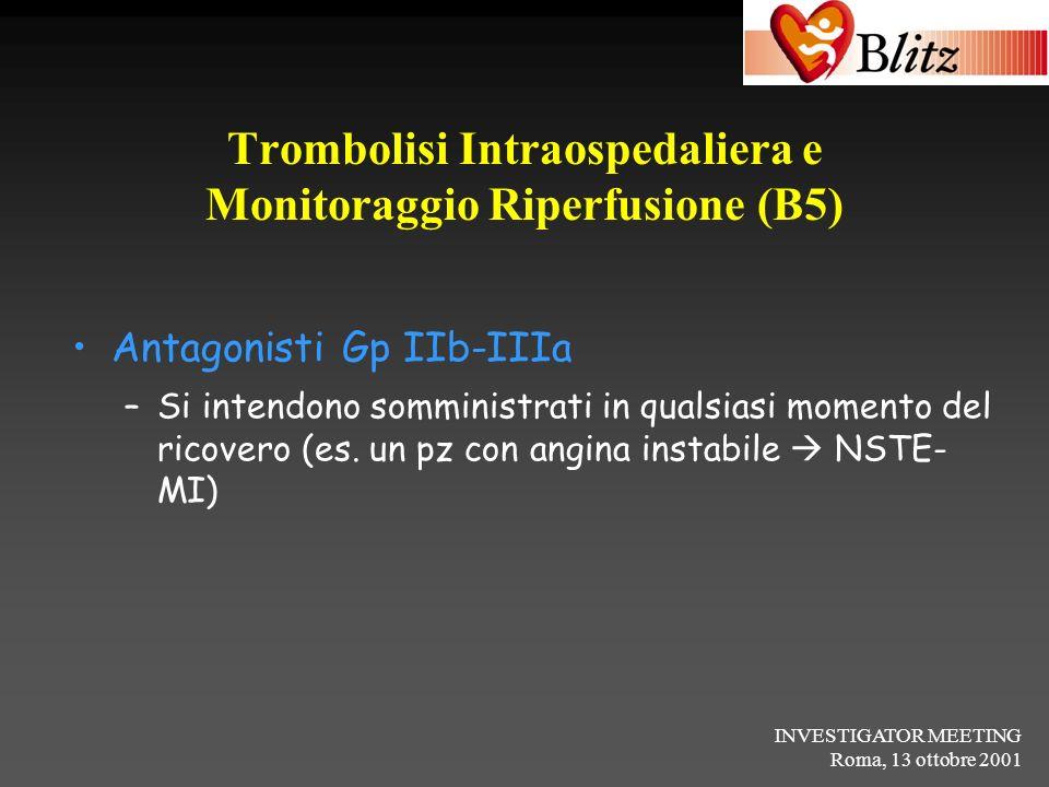 Trombolisi Intraospedaliera e Monitoraggio Riperfusione (B5)
