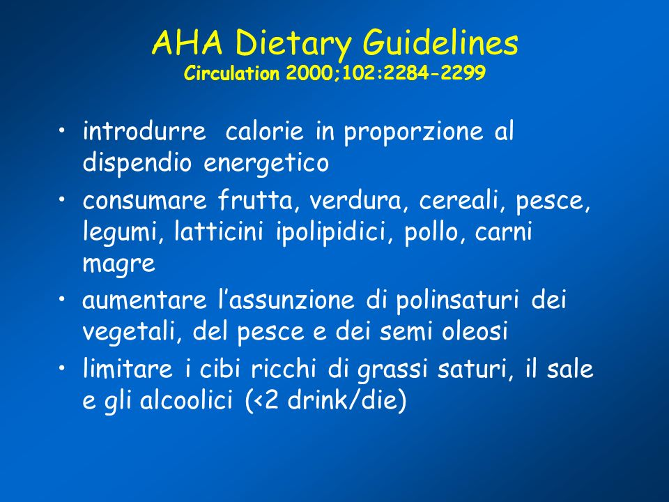 AHA Dietary Guidelines Circulation 2000;102: