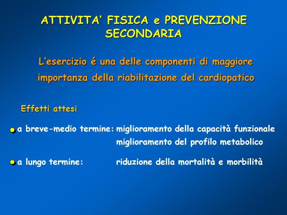 ATTIVITA' FISICA e PREVENZIONE SECONDARIA