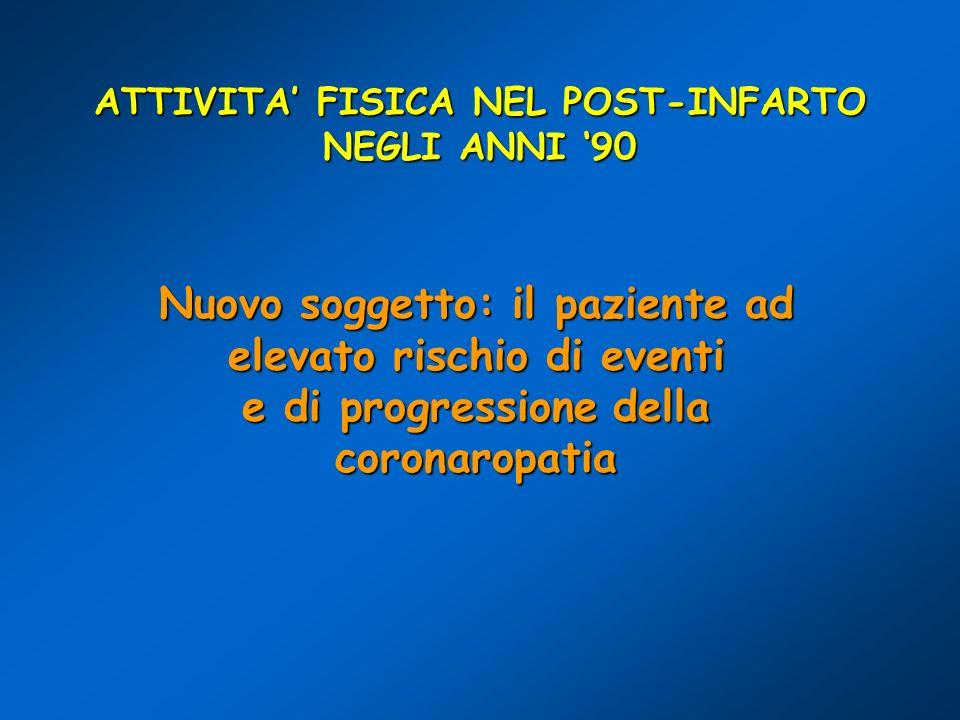 ATTIVITA' FISICA NEL POST-INFARTO NEGLI ANNI '90