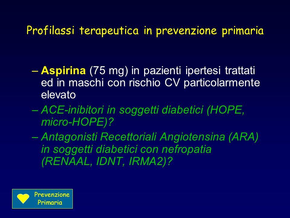 Profilassi terapeutica in prevenzione primaria
