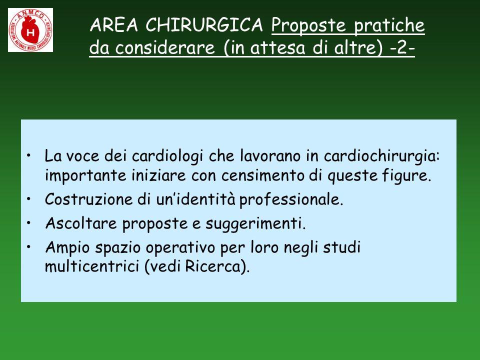 AREA CHIRURGICA Proposte pratiche da considerare (in attesa di altre) -2-