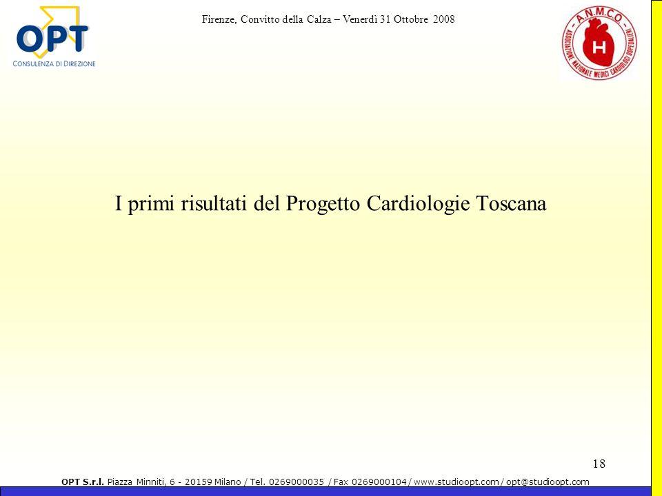 I primi risultati del Progetto Cardiologie Toscana
