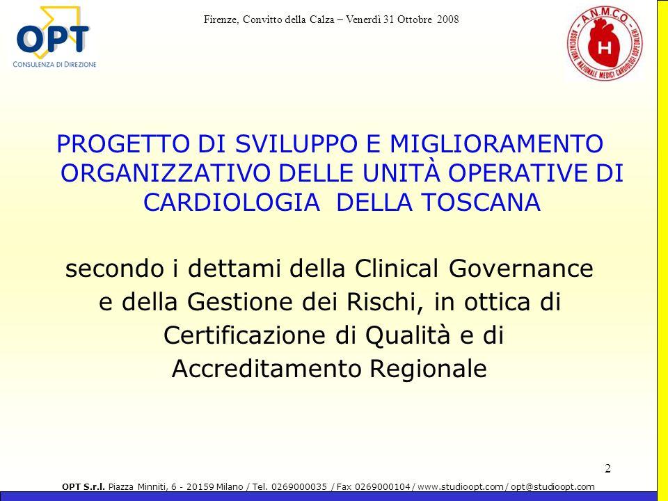 secondo i dettami della Clinical Governance