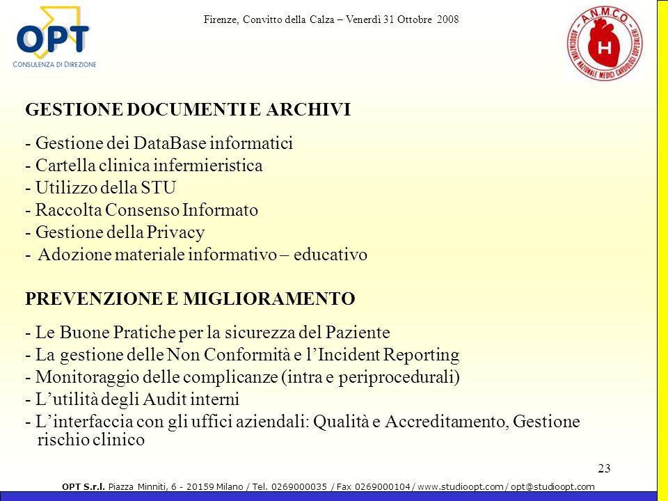 GESTIONE DOCUMENTI E ARCHIVI