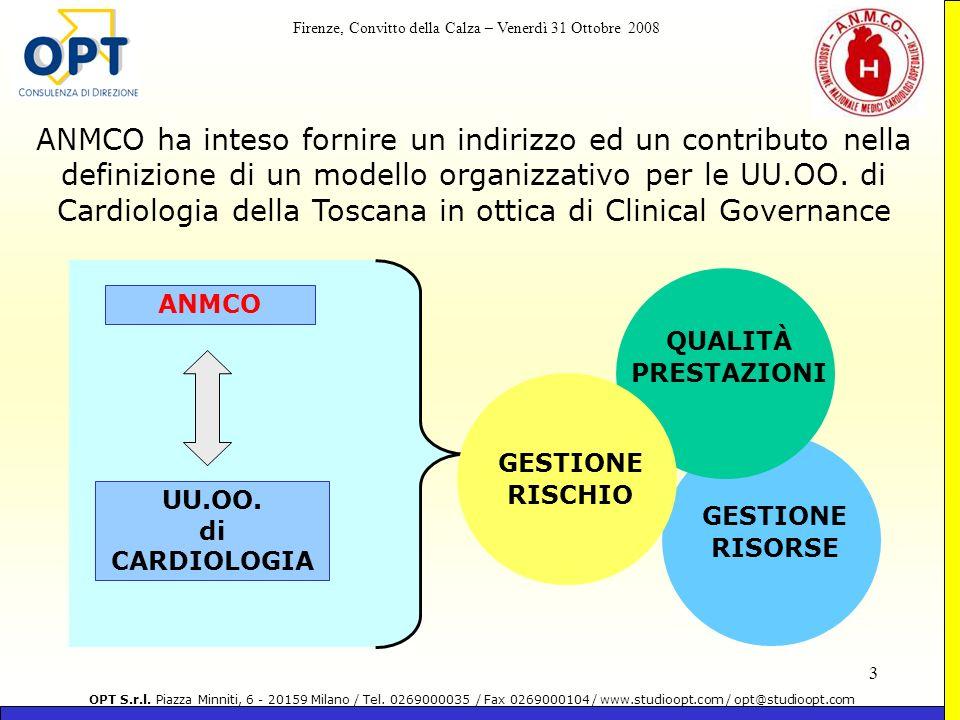 ANMCO ha inteso fornire un indirizzo ed un contributo nella definizione di un modello organizzativo per le UU.OO. di Cardiologia della Toscana in ottica di Clinical Governance