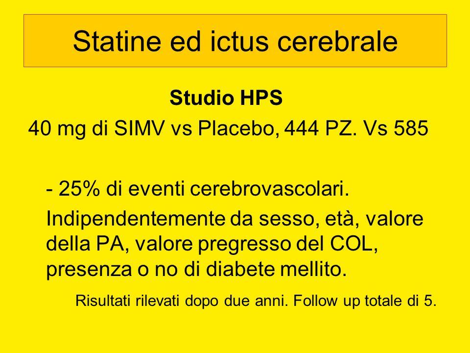 Statine ed ictus cerebrale