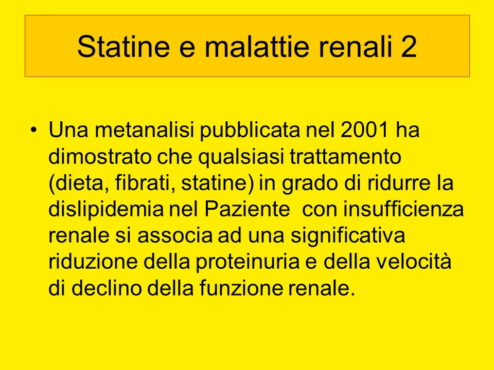 Statine e malattie renali 2