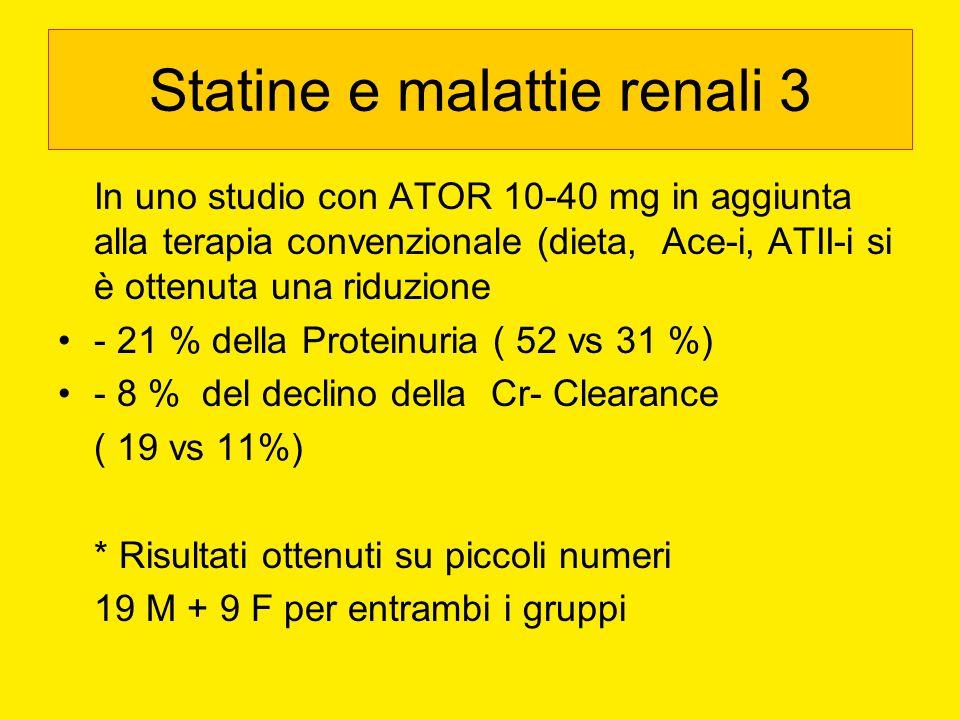 Statine e malattie renali 3