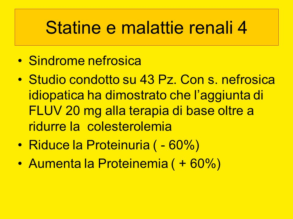 Statine e malattie renali 4