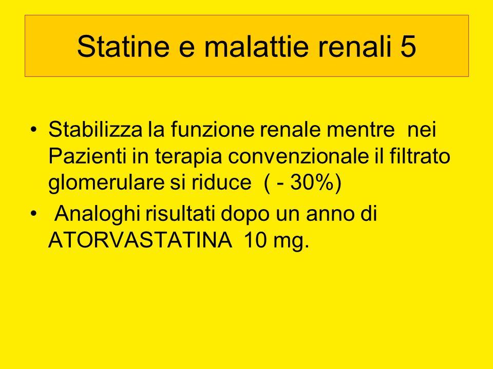 Statine e malattie renali 5