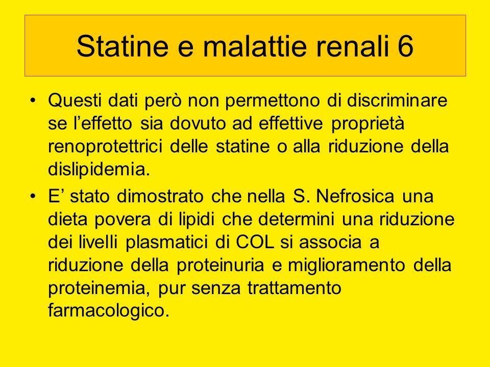 Statine e malattie renali 6