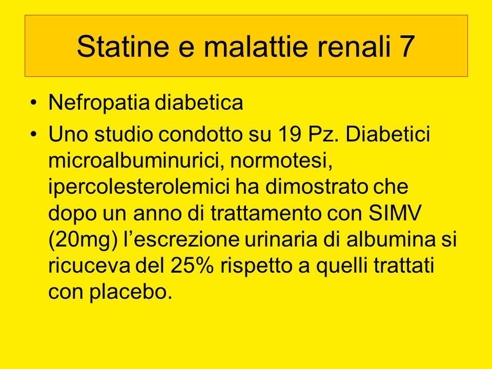 Statine e malattie renali 7
