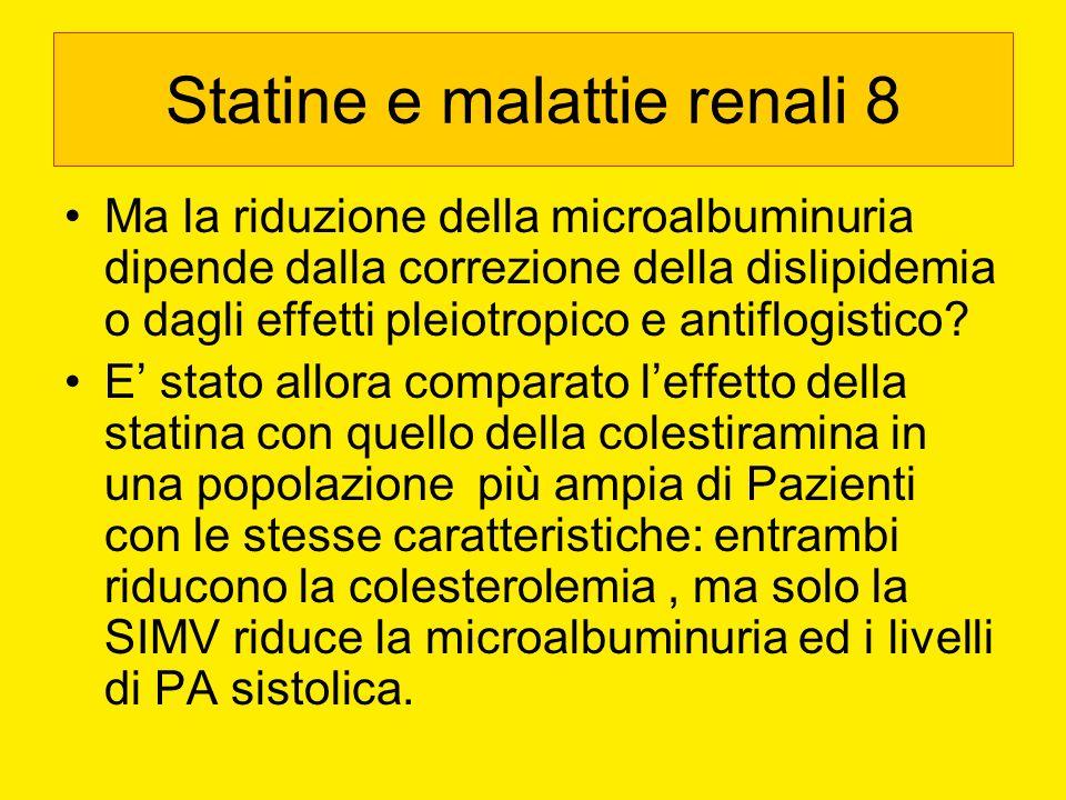 Statine e malattie renali 8