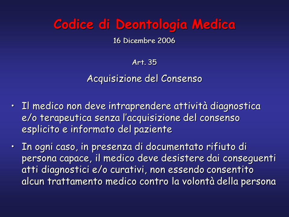 Codice di Deontologia Medica