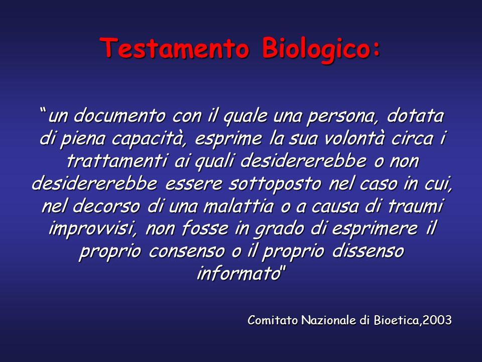 Testamento Biologico: