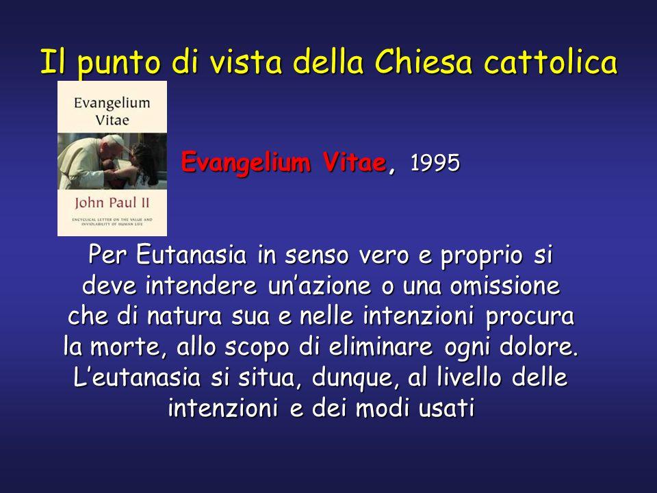 Il punto di vista della Chiesa cattolica