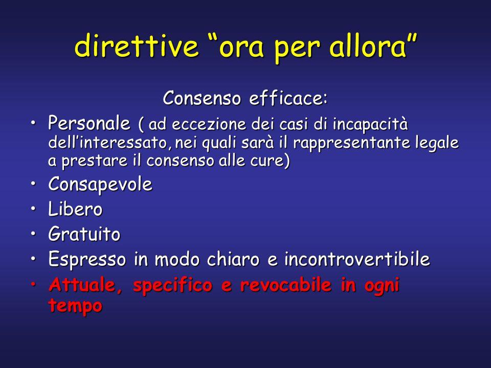 direttive ora per allora