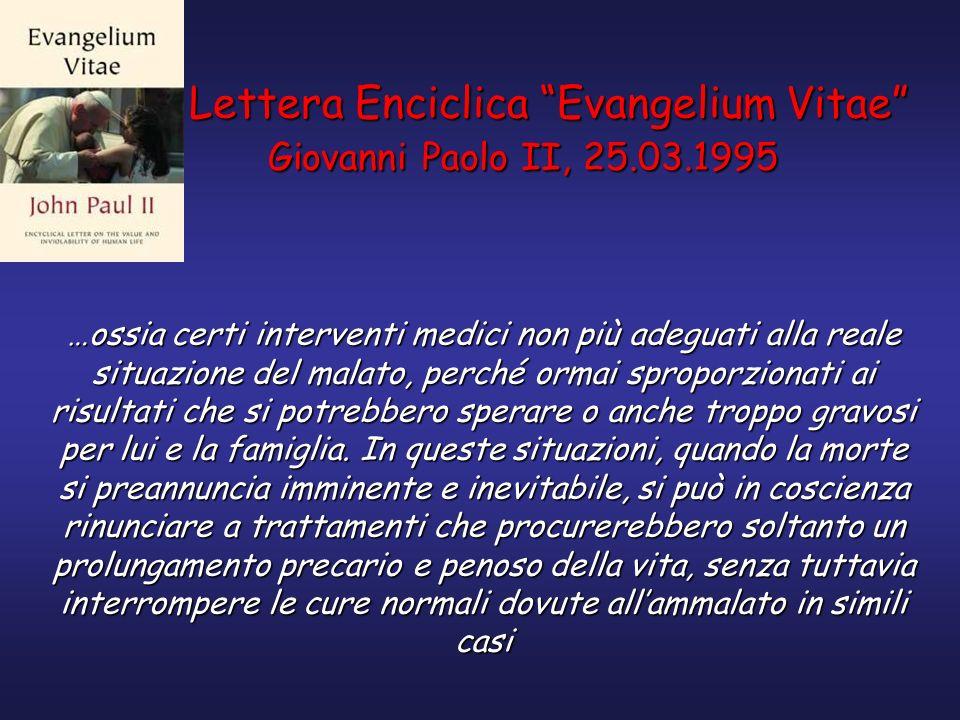 Lettera Enciclica Evangelium Vitae Giovanni Paolo II, 25.03.1995
