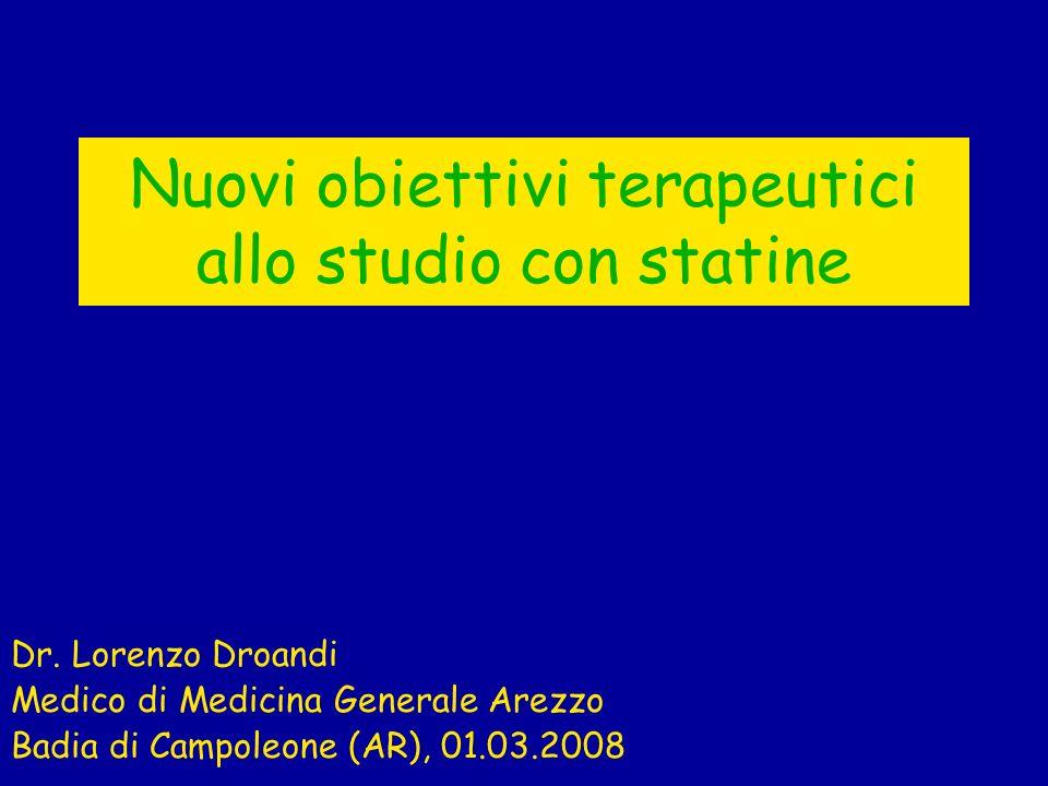 Nuovi obiettivi terapeutici allo studio con statine