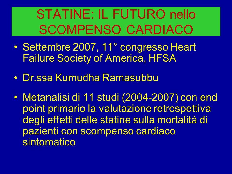 STATINE: IL FUTURO nello SCOMPENSO CARDIACO