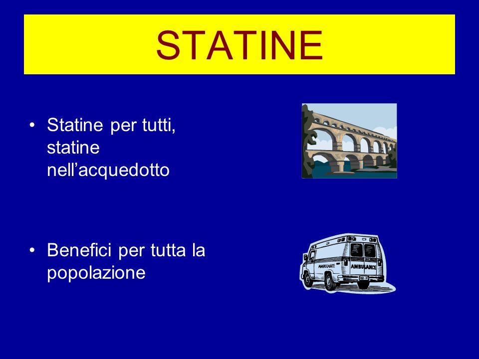 STATINE Statine per tutti, statine nell'acquedotto