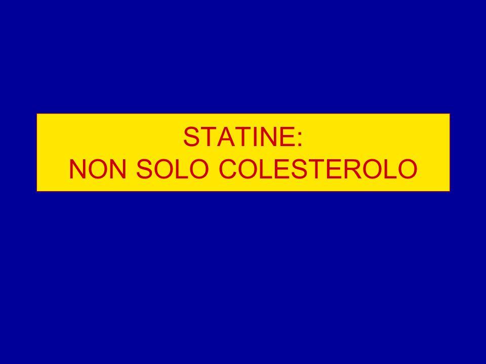 STATINE: NON SOLO COLESTEROLO