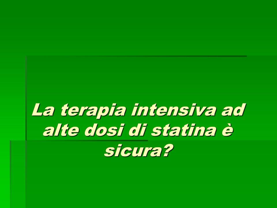La terapia intensiva ad alte dosi di statina è sicura