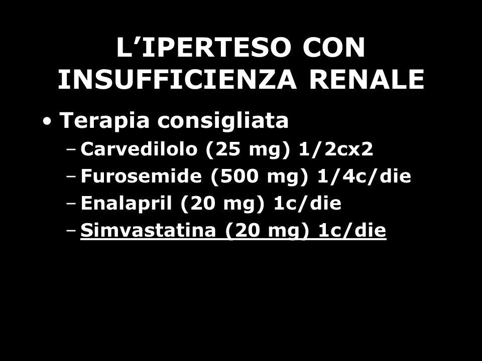 L'IPERTESO CON INSUFFICIENZA RENALE