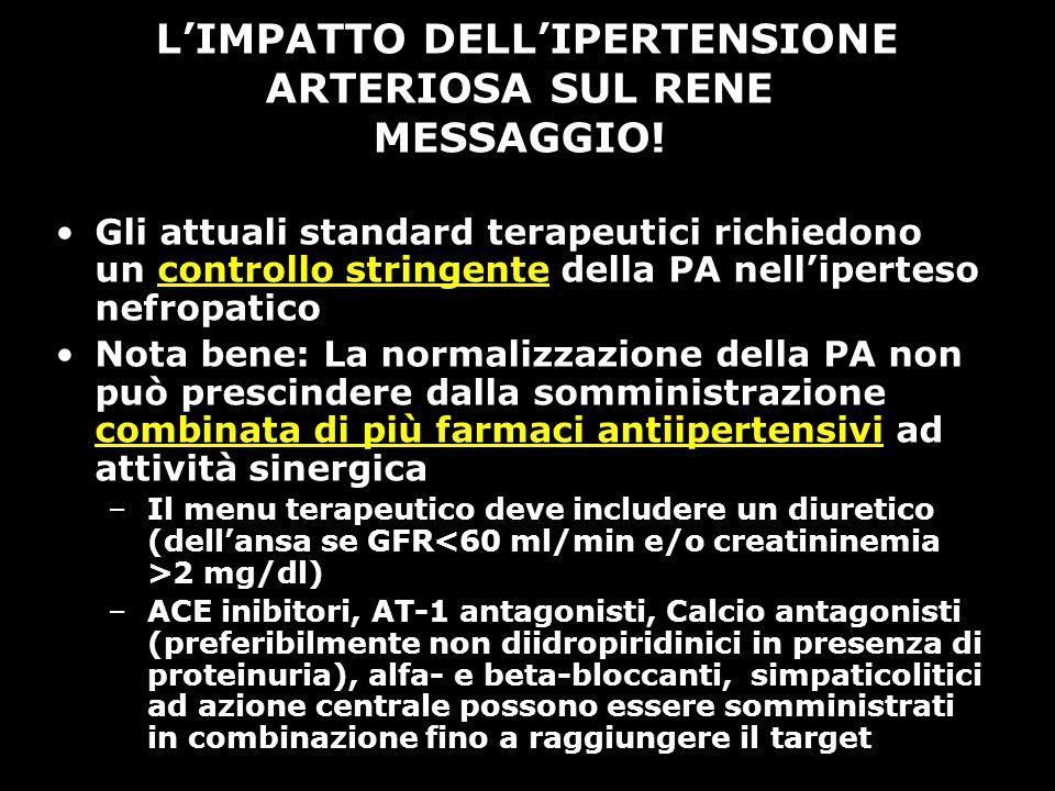 L'IMPATTO DELL'IPERTENSIONE ARTERIOSA SUL RENE MESSAGGIO!