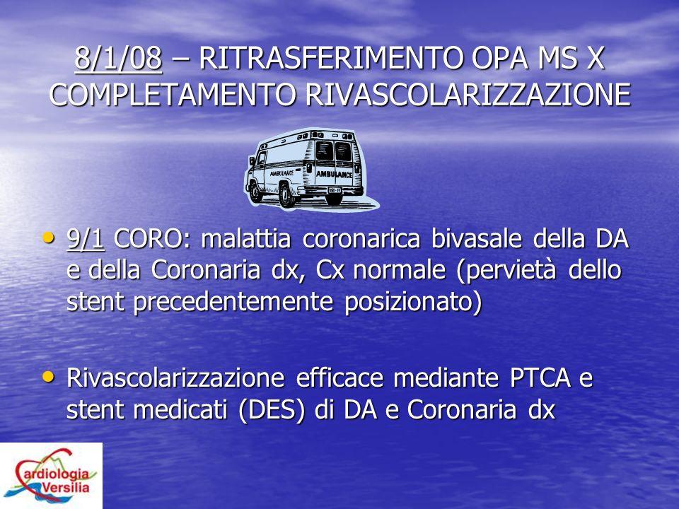 8/1/08 – RITRASFERIMENTO OPA MS X COMPLETAMENTO RIVASCOLARIZZAZIONE