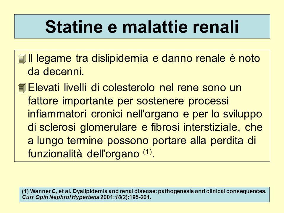 Statine e malattie renali