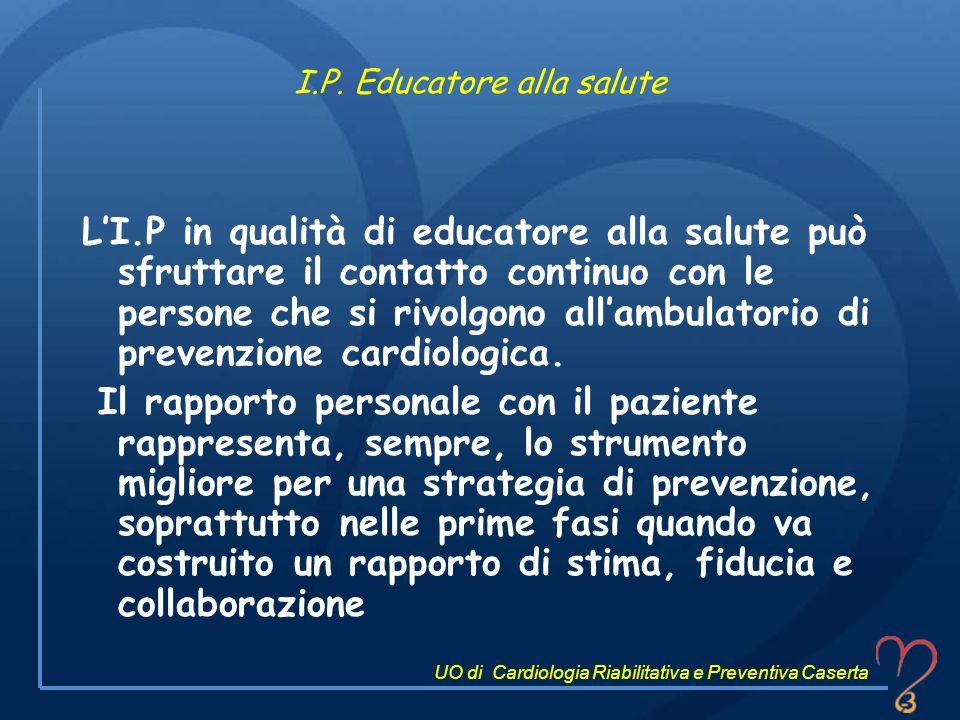 I.P. Educatore alla salute