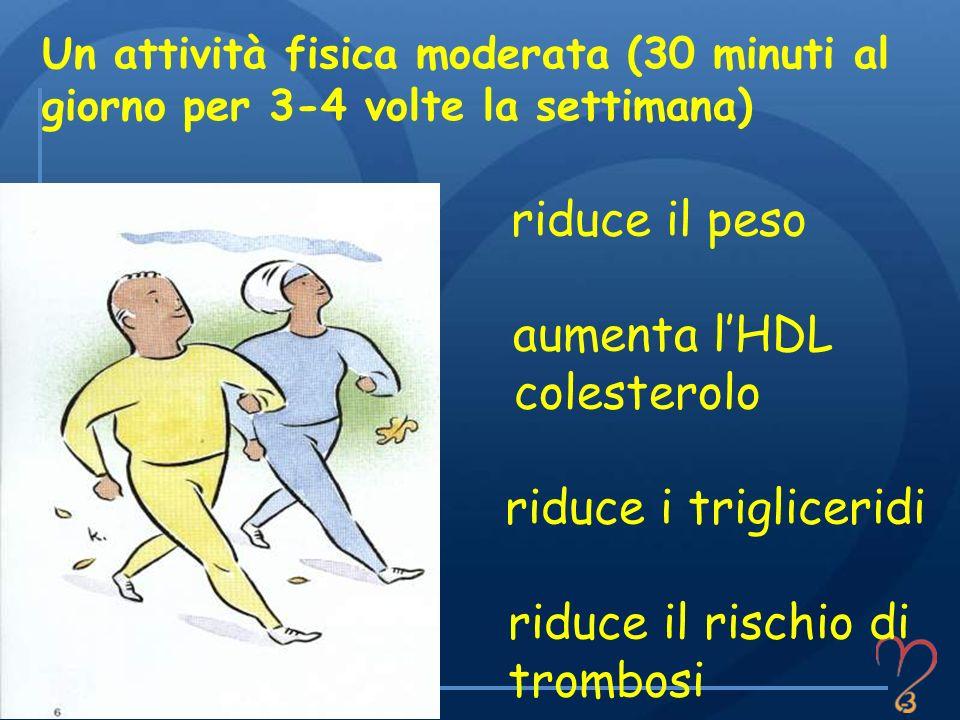 Un attività fisica moderata (30 minuti al giorno per 3-4 volte la settimana)
