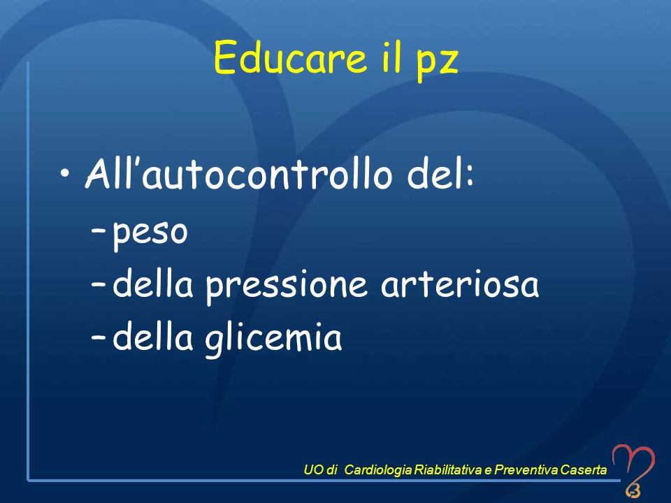 All'autocontrollo del: