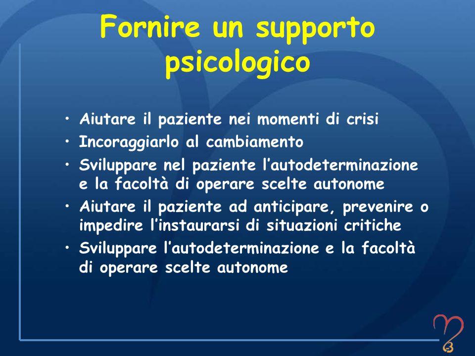 Fornire un supporto psicologico