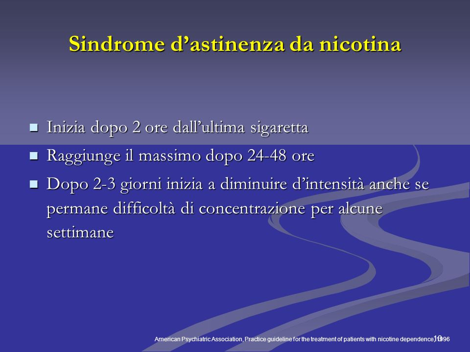 Sindrome d'astinenza da nicotina