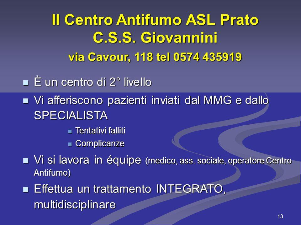 Il Centro Antifumo ASL Prato C. S. S