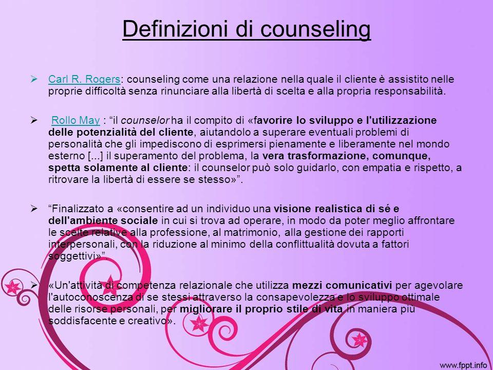 Definizioni di counseling