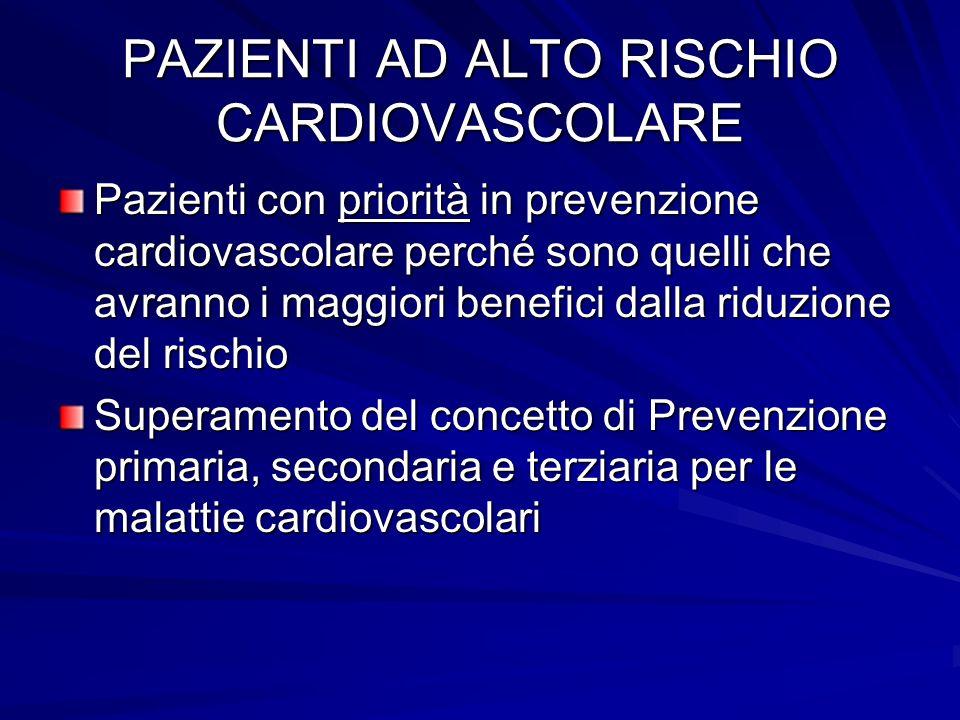 PAZIENTI AD ALTO RISCHIO CARDIOVASCOLARE