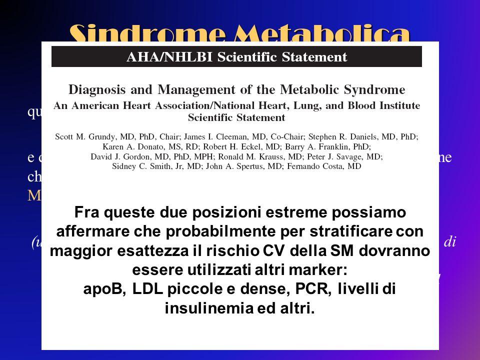 apoB, LDL piccole e dense, PCR, livelli di insulinemia ed altri.