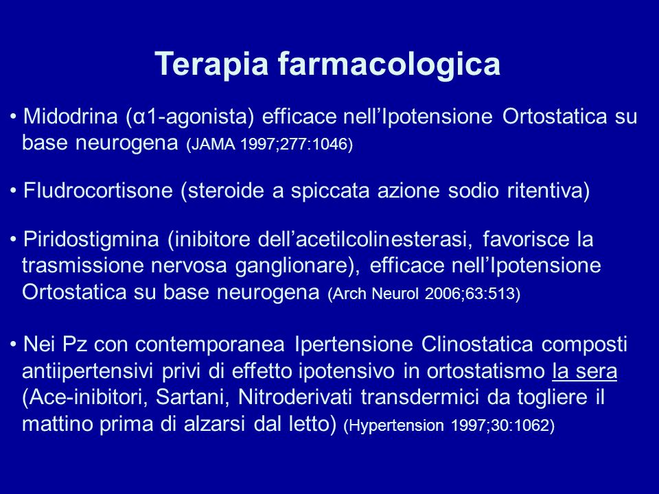 Terapia farmacologica