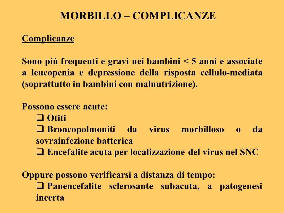 MORBILLO – COMPLICANZE
