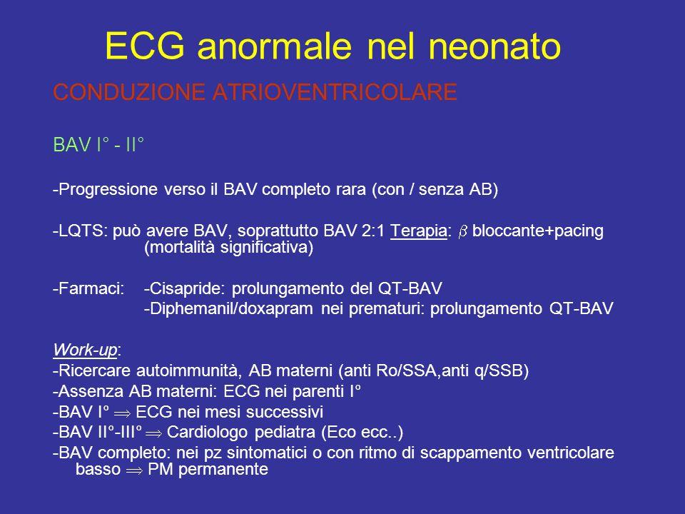 ECG anormale nel neonato