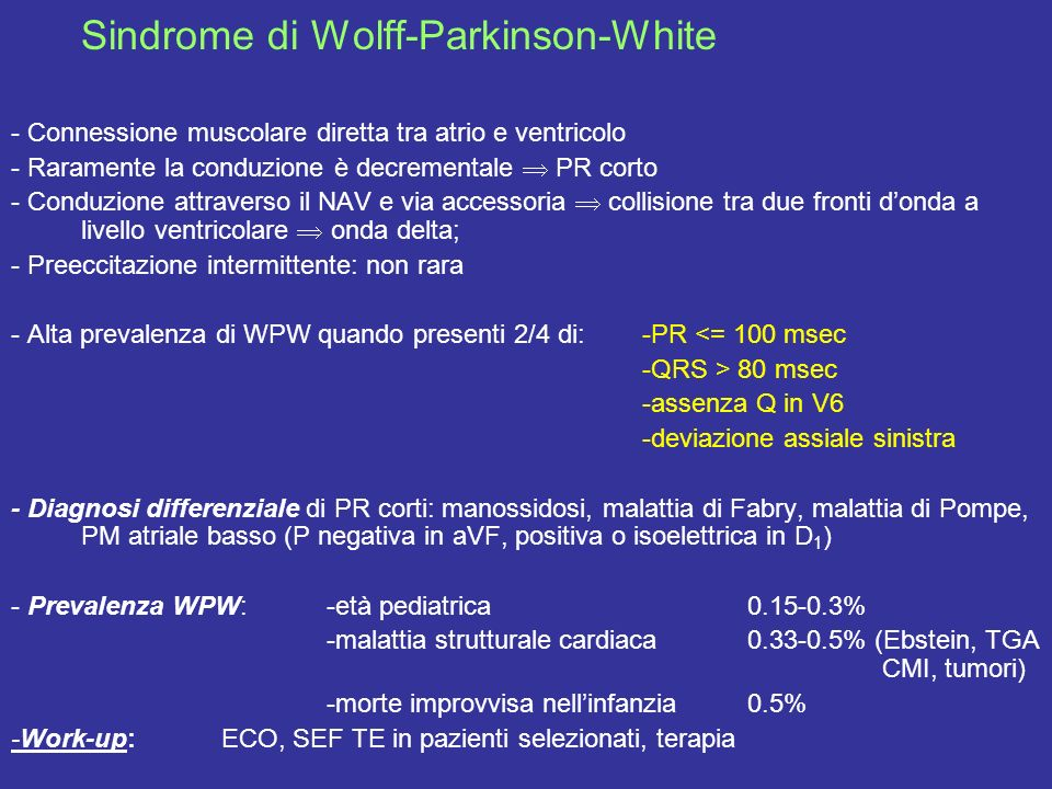 Sindrome di Wolff-Parkinson-White