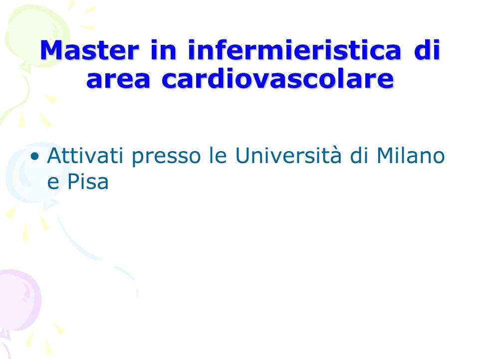 Master in infermieristica di area cardiovascolare