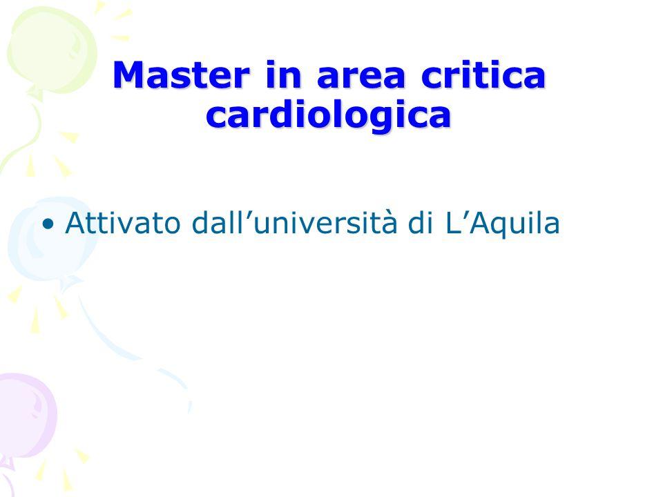 Master in area critica cardiologica