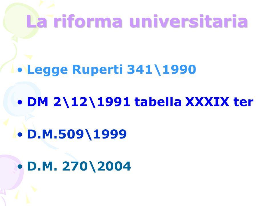 La riforma universitaria