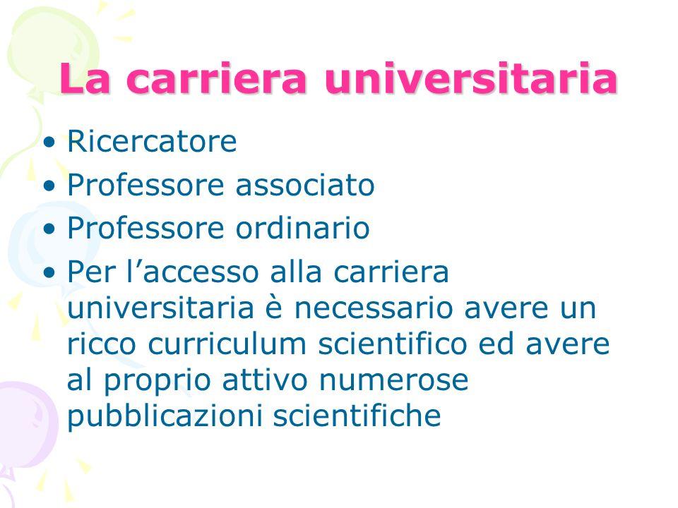 La carriera universitaria