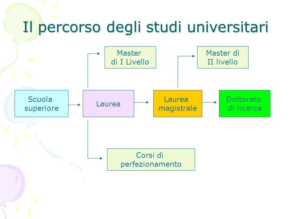 Il percorso degli studi universitari
